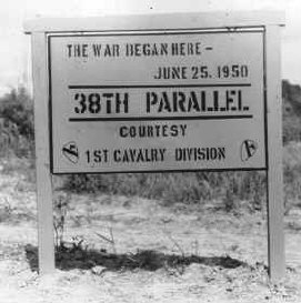 38th Parallel sign