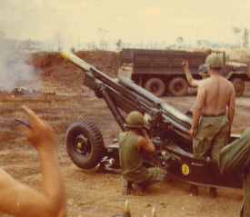 M102 of the 2/17th Artillery